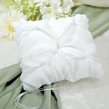 Elegant Chiffon Ring Pillow