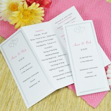 Platinum Hearts Tri Fold Program Paper in White
