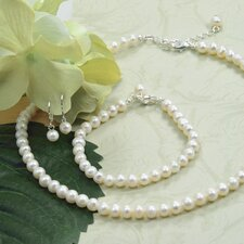 <strong>Cathys Concepts</strong> 6mm Classic Freshwater Cultured Pearl Jewelry Set