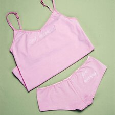 <strong>Cathys Concepts</strong> Just Married Camisole and Boy Short Set
