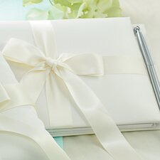 Wedding Tied with a Bow Guest Book and Pen Set