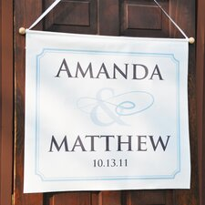 Flourish Custom Wedding Banner
