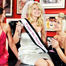 <strong>Cathys Concepts</strong> Cosmopolitan Bachelorette Sash and Veil Set