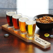 Personalized 5 Piece Beer Flight Sampler Set
