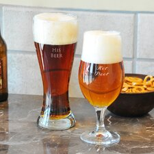 <strong>Cathys Concepts</strong> Custom His and Her Pilsner Glass Set