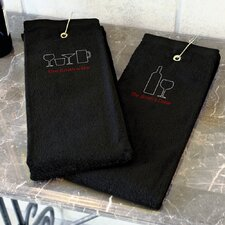 Wine Personalized Bar Towel Set