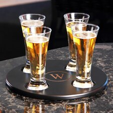 Personalized Round Beer Flight Sampler (Set of 4)