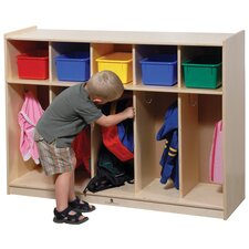 <strong>Steffy Wood Products</strong> Five-Section Toddler Locker Unit
