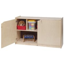 Two-Shelf Mobile Storage Unit With Doors