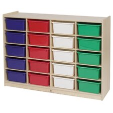 <strong>Steffy Wood Products</strong> 20-Tray Storage Unit