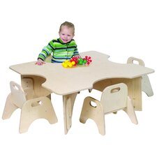 "Infant-Toddler 36"" Four Cutout Classroom Table"