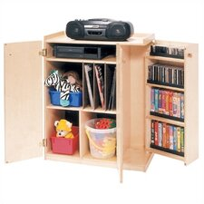 <strong>Steffy Wood Products</strong> Deluxe Audio Storage Unit