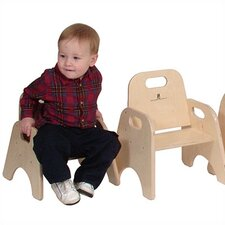 "11"" Wood Classroom Toddler Stackable Chair"