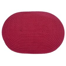 Solid Raspberry Indoor/Outdoor Rug