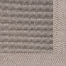 Jute Textured Boucle Medium Bordered Natural Outdoor Area Rug