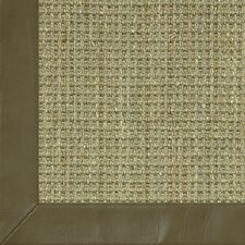 Botanical Blends Spring Twine Textured Leather Bordered Rug