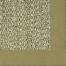 Botanical Blends Hacienda Herringbone Green Mist Bordered Rug