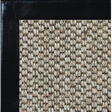 <strong>Fibreworks</strong> Siskiyou Smooth Leather Bordered Rug