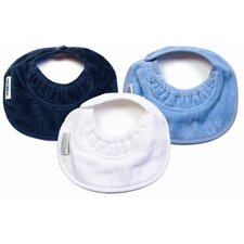 <strong>Silly Billyz</strong> Boy Newborn Bibs 3 Pack in Navy / White / Pale Blue