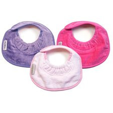 <strong>Silly Billyz</strong> Girl Newborn Bibs 3 Pack in Lilac / Pale Pink / Fuchsia