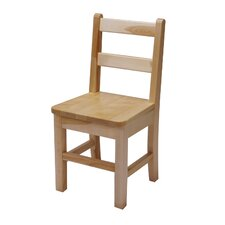 "16"" Large Maple Classroom Glides Chair"
