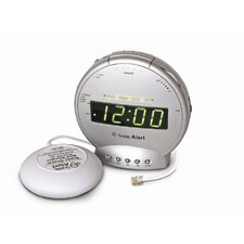 Sonic Boom Vibrating Alarm Clock with Telephone Signaler