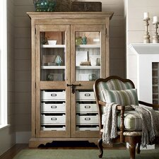 Down Home Dish Pantry in Distressed Oatmeal Finish