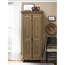 Down Home Utility Cabinet in Distressed Oatmeal Finish