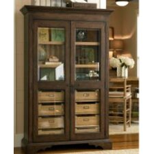 Down Home Dish Pantry in Distressed Molasses Finish