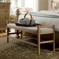 Down Home Wood Bedroom Bench