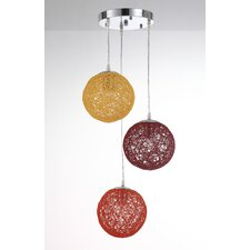 Sunset 3 Light Globe Pendant