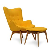 <strong>International Design USA</strong> Huggy Mid Century Chair and Ottoman