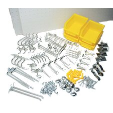 <strong>Triton Products</strong> DuraBoard White Polypropylene Pegboards with 48 Piece peg hook Assortment