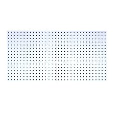 <strong>Triton Products</strong> LocBoard (2) 24 In. W x 24 In. H x 9/16 In. D White Epoxy, 18 Gauge Steel Square Hole Pegboards