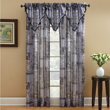 Jessica Polyester Rod Pocket Sheer Drape Panel (Set of 2)
