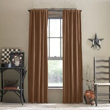 Ocala Polyester Rod Pocket Curtain Panel (Set of 2)