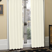 Newport Polyester Pleated Curtain Panel (Set of 2)