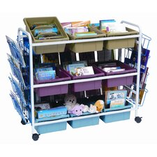 <strong>Copernicus</strong> Deluxe Book Browser Cart with Book Display Rack and Eco Tub