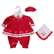 "Molly P. Apparel 13"" Martina Doll Ensemble in Red"
