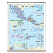 Primary Wall Map - Central America