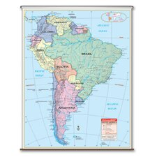 Essential Wall Map - South America