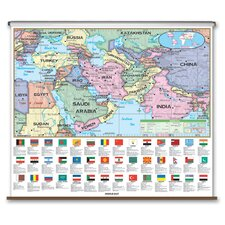Essential Wall Map - Middle East
