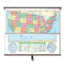 <strong>Universal Map</strong> Essential Wall Map Combo - U.S. / World