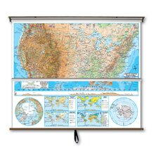<strong>Universal Map</strong> Advanced Physical Map Combo - U.S. / World