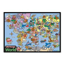 <strong>Universal Map</strong> World Framed Wooden Puzzle