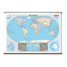 Large Scale Wall Map - World