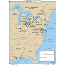 U.S. History Wall Maps - War of 1812
