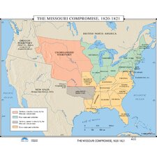 U.S. History Wall Maps - Missouri Compromise