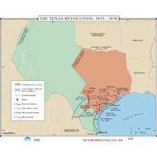 U.S. History Wall Maps - Texas Revolution