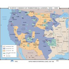 U.S. History Wall Maps - Native American Territorial Losses